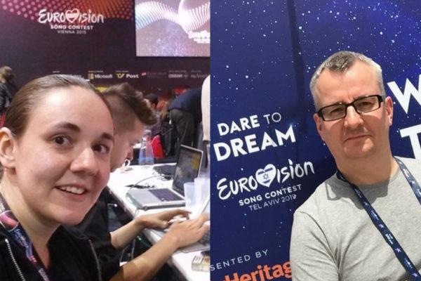 Sonja + Sascha vom ESC Greenroom Podcast