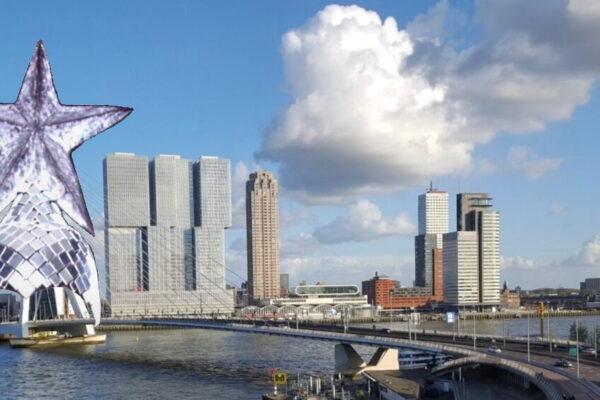 ESC-2020-Rotterdam-Skyline-Bridge mit Verkahut